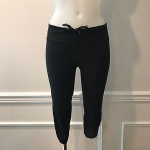 Adidas supernova  black cropped workout pants
